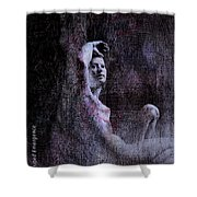 Transcribed Emergence Shower Curtain