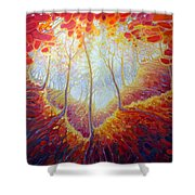 Transference Of Life Shower Curtain