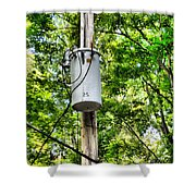 Transformer And Power Lines Shower Curtain