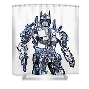 Transformers Optimus Prime Or Orion Pax Graphic  Shower Curtain