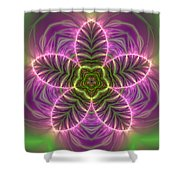 Transition Flower Shower Curtain