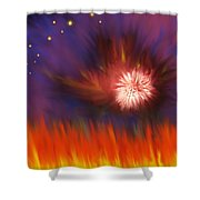 Transition Four Shower Curtain