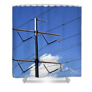 Transmission Lines Shower Curtain
