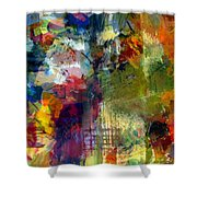 Transparent Layers Four Shower Curtain