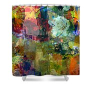 Transparent Layers Two Shower Curtain
