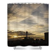 Transpicuous Balcony Sunset #0010 Shower Curtain