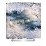 Transverse Xvii Shower Curtain