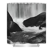 Trap Falls In Ashby Ma Black And White 6 Shower Curtain