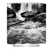 Trap Falls In Ashby Ma Black And White 1 Shower Curtain