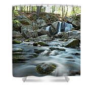 Trap Falls In Spring 4 Shower Curtain