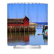 Trap House At Head Of Harbor Shower Curtain