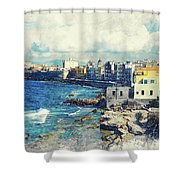 Trapani Art 19 Sicily Shower Curtain