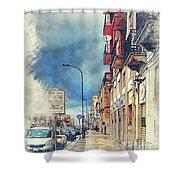 Trapani Art 20 Sicily Shower Curtain