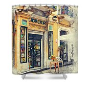 Trapani Art 21 Sicily Shower Curtain