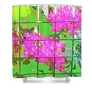 Trapped Flowers Shower Curtain