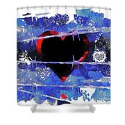 Trapped Heart Shower Curtain