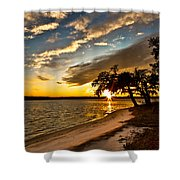 Trapped Sunset Shower Curtain