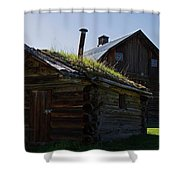 Trappers Cabin Clydesdale Barn Shower Curtain