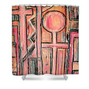 Trappings Of Love Abstract Art Painting  Shower Curtain