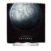 Trappist-1h Shower Curtain