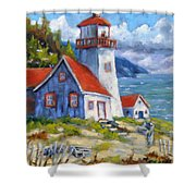 Traps And Lighthouse Shower Curtain