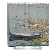 Trashy River Shower Curtain