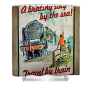 Travel By Train Shower Curtain