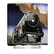 Travel Canadian Pacific Across Canada - Steam Engine Train - Retro Travel Poster - Vintage Poster Shower Curtain