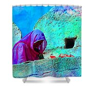 Travel Exotic Woman On Ramparts Mehrangarh Fort India Rajasthan 1e Shower Curtain