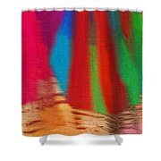 Travel Shopping Colorful Scarves Abstract Series India Rajasthan 1b Shower Curtain
