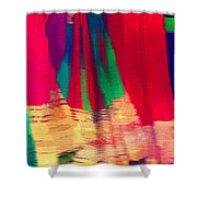 Travel Shopping Colorful Scarves Abstract Series Square India Rajasthan 1h Shower Curtain