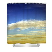 Travel Through Clouds Shower Curtain