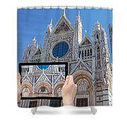 Travel To Siena Concept Shower Curtain
