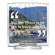 Travel Well Shower Curtain