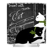Travel With Your Cat Shower Curtain