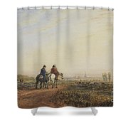 Travelers On The Road To Lancaster Shower Curtain