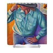 Travelin Man Shower Curtain