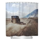 Traveling And Exploring Indonesian Volcanoes Shower Curtain