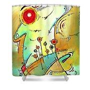 Traveling Band Original Painting Madart Shower Curtain by Megan Duncanson