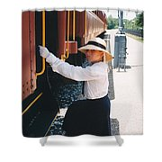 Traveling By Train Shower Curtain