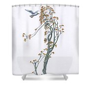 Traveling Companion Re-imagined Shower Curtain