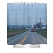 Traveling Home After Easter Monday Gatherings Shower Curtain