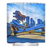 Traveling Man Chilin Shower Curtain