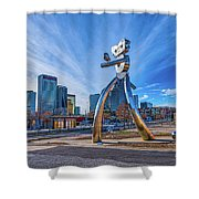Traveling Man Day Shower Curtain