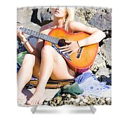 Traveling Musician Shower Curtain