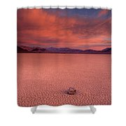 Traveling Stone Shower Curtain