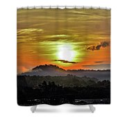 Traveling Sunrise Shower Curtain