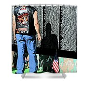 Traveling Wall Shower Curtain