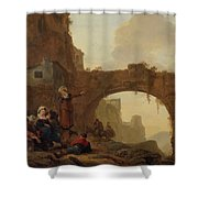 Travellers At Rest Shower Curtain