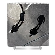 Travelling Grey  Shower Curtain